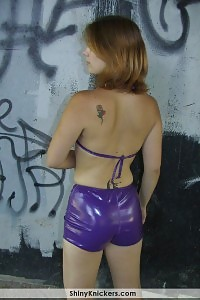 Innocent Young Neighbor In Her Tight Violet Panties