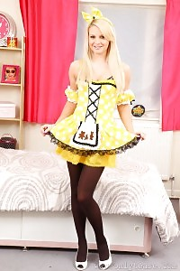 Naomi In Yellow Saucy Uniform