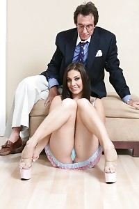Glacie Glam Goes Her Rich Step-father In The Bed Room For An Wild Doggy Drilling